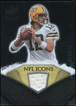 2008 Upper Deck Icons NFL Icons Jersey Silver #NFL13 Aaron Rodgers /150
