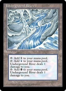 Magic the Gathering Ice Age Single Underground River - SLIGHT PLAY (SP)