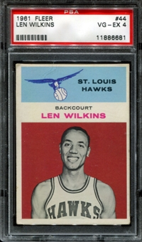 1961/62 Fleer Basketball #44 Len Wilkins Rookie PSA 4 (VG-EX) *6681