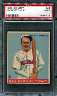 1933 Goudey Baseball #44 Jim Bottomley PSA 7 (NM) *8726