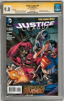 Justice League #20 CGC Signature Series 9.8 (W) (Tyler Kirkham) *1190287018*