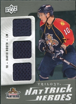 2009/10 Upper Deck Trilogy Hat Trick Heroes #HTHDB David Booth