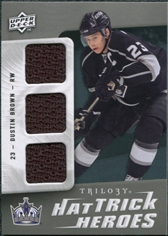 2009/10 Upper Deck Trilogy Hat Trick Heroes #HTHDU Dustin Brown