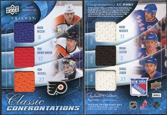 2009/10 UD Trilogy Confrontations Ron Hextall Mark Recchi Rod Brind`Amour Mark Messier Brian Leetch Zubov
