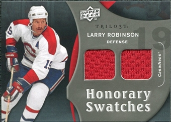 2009/10 Upper Deck Trilogy Honorary Swatches #HSLR Larry Robinson