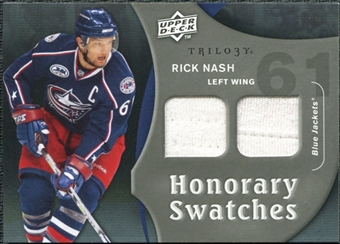 2009/10 Upper Deck Trilogy Honorary Swatches #HSRN Rick Nash