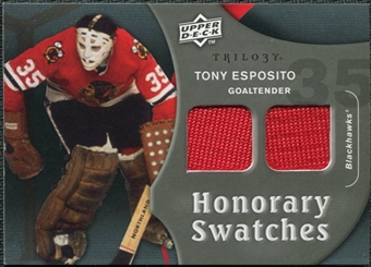 2009/10 Upper Deck Trilogy Honorary Swatches #HSTE Tony Esposito