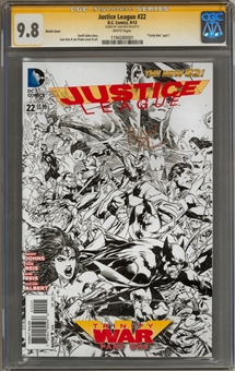 Justice League #22 CGC Signature Series 9.8 (W) (Ivan Reis) *1194280001*