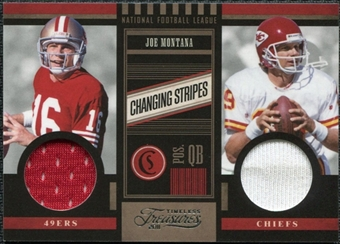 2011 Panini Timeless Treasures Changing Stripes Dual Jersey #13 Joe Montana /249