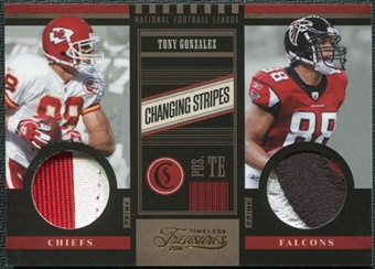 2011 Panini Timeless Treasures Changing Stripes Prime Patch #31 Tony Gonzalez 27/49