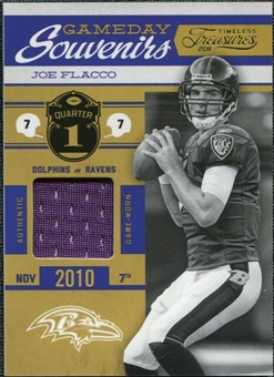 2011 Panini Timeless Treasures Game Day Souvenirs 1st Quarter #13 Joe Flacco /250