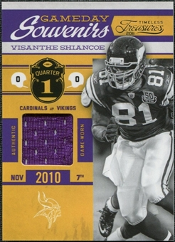 2011 Timeless Treasures Game Day Souvenirs 1st Quarter #32 Visanthe Shiancoe /99