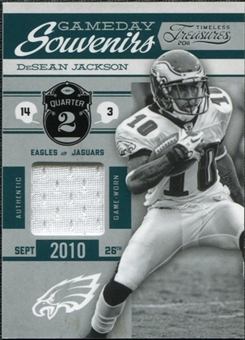 2011 Panini Timeless Treasures Game Day Souvenirs 2nd Quarter #3 DeSean Jackson /250