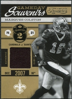 2011 Panini Timeless Treasures Game Day Souvenirs 2nd Quarter #4 Marques Colston /170