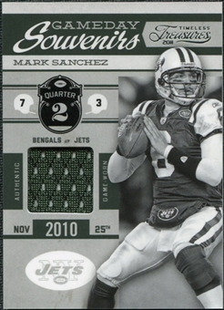 2011 Panini Timeless Treasures Game Day Souvenirs 2nd Quarter #12 Mark Sanchez /200