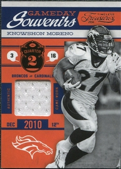 2011 Timeless Treasures Game Day Souvenirs 2nd Quarter #19 Knowshon Moreno /165