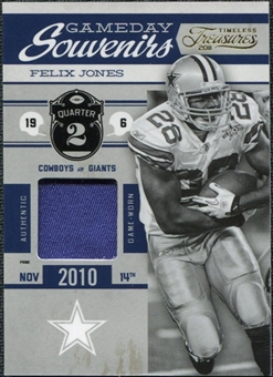 2011 Timeless Treasures Game Day Souvenirs 2nd Quarter Prime #1 Felix Jones /25
