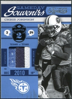 2011 Panini Timeless Treasures Game Day Souvenirs 2nd Quarter Prime #18 Chris Johnson /25