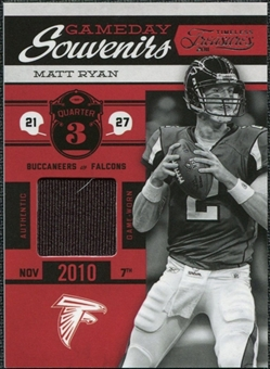 2011 Panini Timeless Treasures Game Day Souvenirs 3rd Quarter #7 Matt Ryan /190