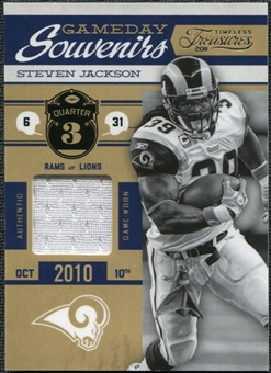 2011 Panini Timeless Treasures Game Day Souvenirs 3rd Quarter #11 Steven Jackson /250