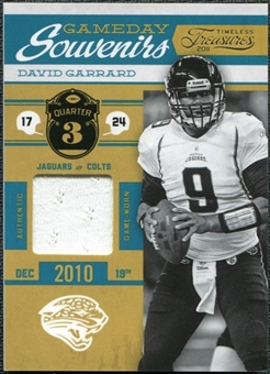 2011 Timeless Treasures Game Day Souvenirs 3rd Quarter #17 David Garrard /185