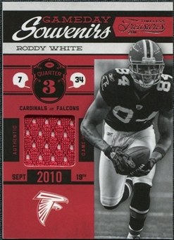 2011 Timeless Treasures Game Day Souvenirs 3rd Quarter #29 Roddy White /99
