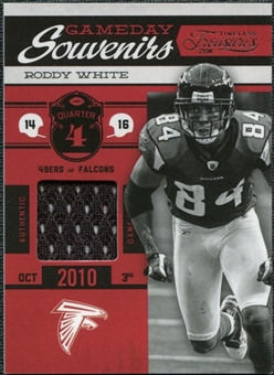 2011 Panini Timeless Treasures Game Day Souvenirs 4th Quarter #8 Roddy White /115
