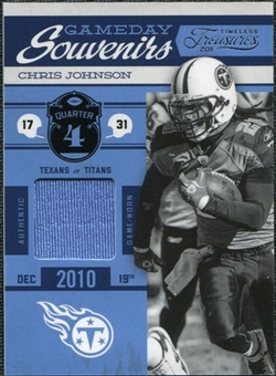 2011 Panini Timeless Treasures Game Day Souvenirs 4th Quarter #18 Chris Johnson /200