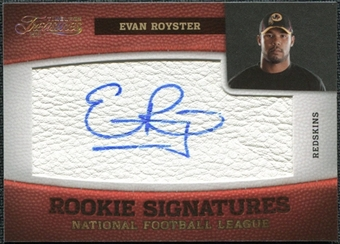 2011 Panini Timeless Treasures Gold #159 Evan Royster Autograph /10
