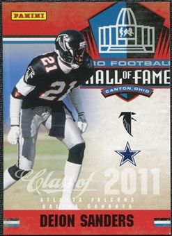 2011 Panini Timeless Treasures Hall of Fame #8 Deion Sanders