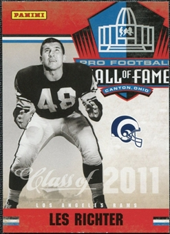 2011 Panini Timeless Treasures Hall of Fame #12 Les Richter