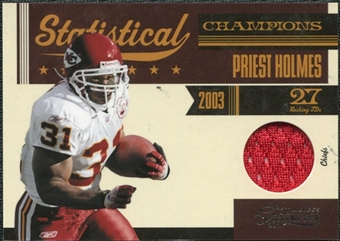 2011 Panini Timeless Treasures Statistical Champions Materials #11 Priest Holmes /100