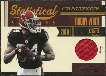 2011 Panini Timeless Treasures Statistical Champions Materials #22 Roddy White /100