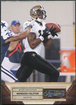 2011 Panini Timeless Treasures Silver #60 Marques Colston /99
