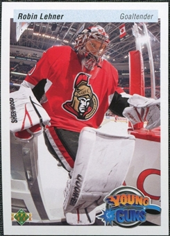 2010/11 Upper Deck 20th Anniversary Variation #485 Robin Lehner YG RC