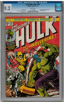 Incredible Hulk #181 CGC 9.2 (W) *1197967001*