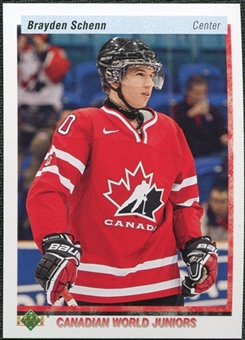 2010/11 Upper Deck 20th Anniversary Variation #544 Brayden Schenn CWJ