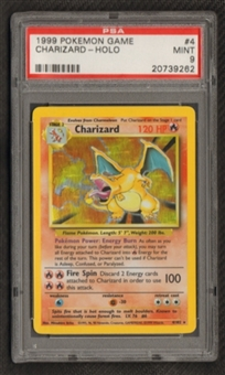 Pokemon Base Set 1 Single Charizard 4/102 PSA 9