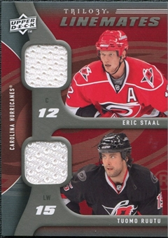 2009/10 Upper Deck Trilogy Line Mates #LMRS Tuomo Ruutu Eric Staal