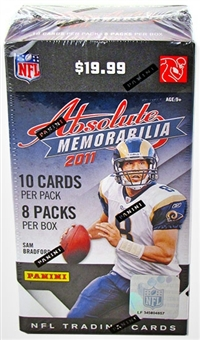 2011 Panini Absolute Memorabilia Football 8-Pack Blaster 3-Box Lot