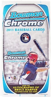2011 Bowman Chrome Baseball Rack Pack Box (18 Packs)