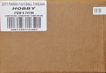 2011 Panini Threads Football Hobby 12-Box Case