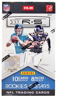 2011 Panini Rookies & Stars Football 8-Pack Blaster 3-Box Lot