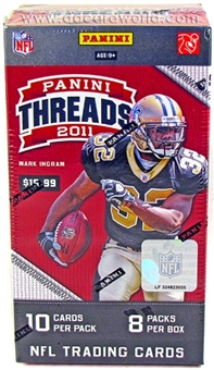 2011 Panini Threads Football 8-Pack Blaster 3-Box Lot