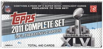 2011 Topps Football Factory Set (Superbowl)
