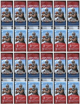 2011 Topps Chrome Football Value Rack Pack (Lot of 12)