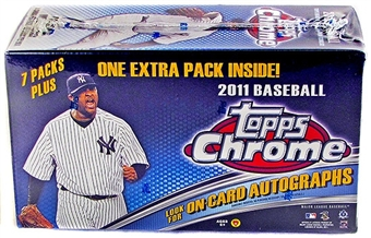 2011 Topps Chrome Baseball 8-Pack Blaster Box