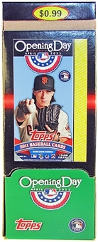 2011 Topps Opening Day Baseball Retail 48-Pack Box