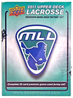 2011 Upper Deck Lacrosse Game Used Jersey Premium Hobby Box (Set)