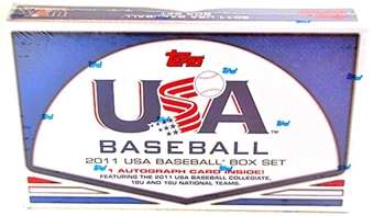 2011 Topps USA Baseball Team Retail Factory Set (Box) - 1 Autograph per set!
